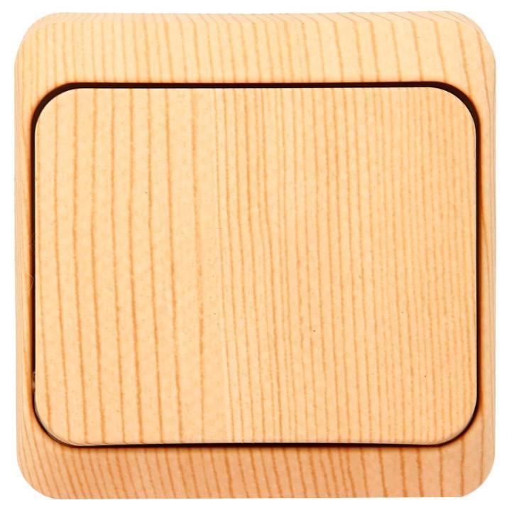 Выключатель Schneider Electric Этюд, цвет: сосна. BA10-001BA10-001DОдноклавишный выключатель Schneider Electric Этюд предназначен для открытой установки. Выполнен из высококачественного пластика. Изделие просто в установке, надежно в эксплуатации. Такой выключатель станет удачным решением для дома и дачи. Функция выключателя: одноканальный. Тип контактов: 1 Н.О. Номинальный ток: 250 В. Тип клемм: винтовые зажимы 2,5 мм2. Длина зачистки проводов: 11 мм. Степень защиты: IP20.