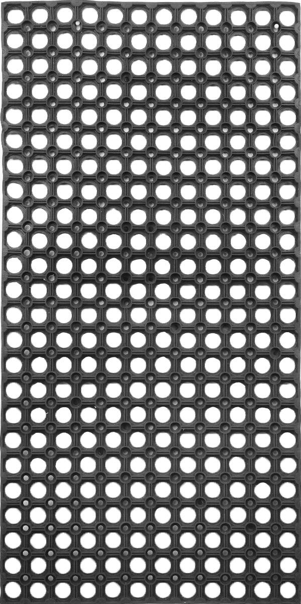 Коврик придверный SunStep, грязесборный, 100 х 50 см30-004Придверный коврик SunStep изготовлен из прочной и долговечной резины. Конструкция коврика имеет специальные ребра, которые помогают более эффективно удалять грязь с обуви, а отверстия в конструкции удаляют излишки воды. Придверный коврик SunStep надежно защитит помещение от уличной пыли и грязи.