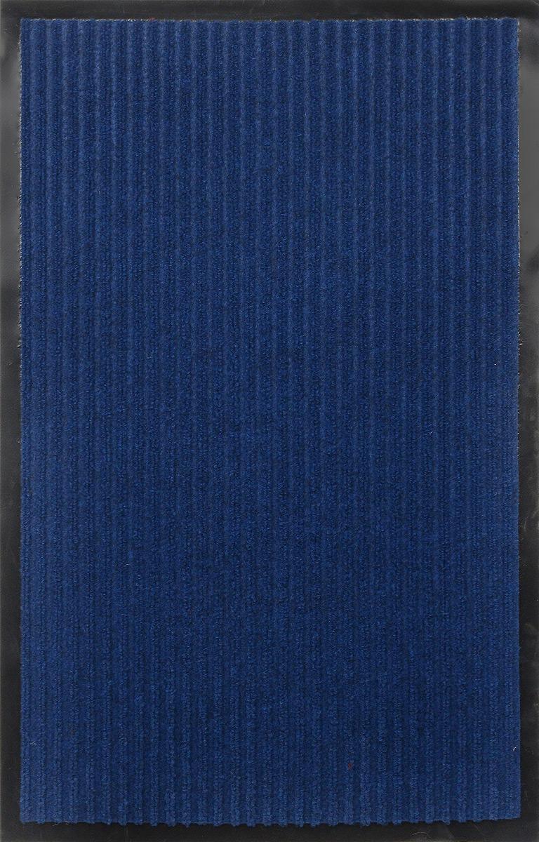 """Коврик придверный SunStep """"Ребристый"""", влаговпитывающий, цвет: синий, 80 х 50 см 35-045"""