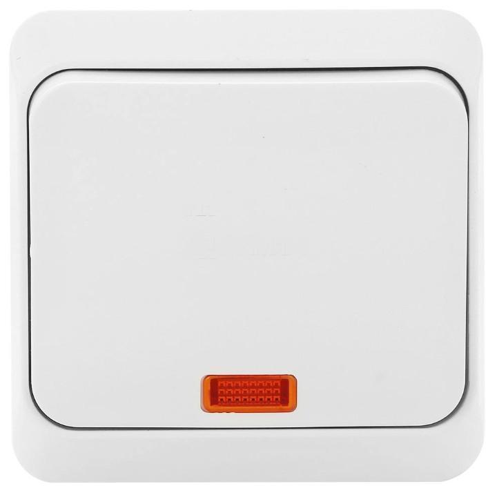 """Выключатель Schneider Electric """"Этюд"""", с подсветкой, цвет: белый. BA10-005"""