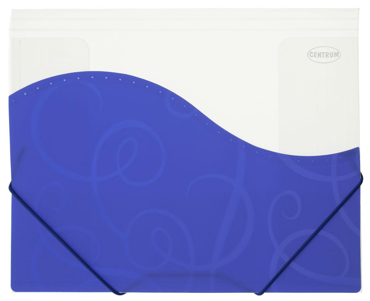Centrum Папка на резинке цвет синий белый формат А483626_синийПапка пластиковая на резинке Centrum станет вашим верным помощником дома и в офисе. Это удобный и функциональный инструмент, предназначенный для хранения и транспортировки больших объемов рабочих бумаг и документов формата А4. Папка изготовлена из износостойкого высококачественного пластика. Состоит из одного вместительного отделения. Закрывается папка при помощи прочной резинки. Папка - это незаменимый атрибут для любого студента, школьника или офисного работника. Такая папка надежно сохранит ваши бумаги и сбережет их от повреждений, пыли и влаги.