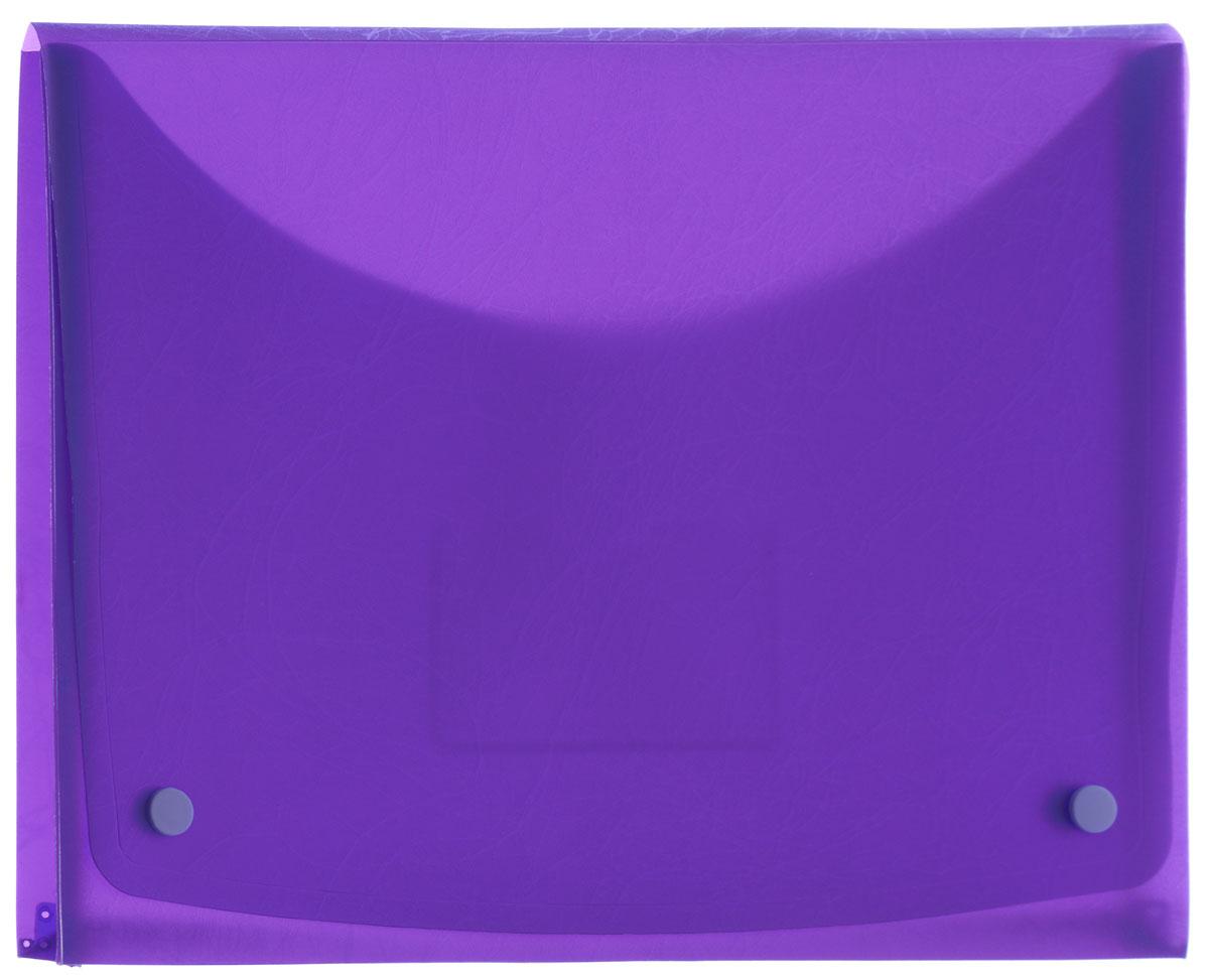 Centrum Папка-конверт Soft Touch на 2 кнопках цвет фиолетовый84016_фиолетовыйПапка-конверт на 2 кнопках Soft Touch - это удобный и функциональный офисный инструмент, предназначенный для хранения и транспортировки рабочих бумаг и документов формата А4. Папка с двойной угловой фиксацией изготовлена из износостойкого пластика. Внутри, под клапаном расположен небольшой кармашек для заметок. Папка оформлена оригинальным тиснением. Папка - это незаменимый атрибут для студента, школьника, офисного работника. Такая папка надежно сохранит ваши документы и сбережет их от повреждений, пыли и влаги.