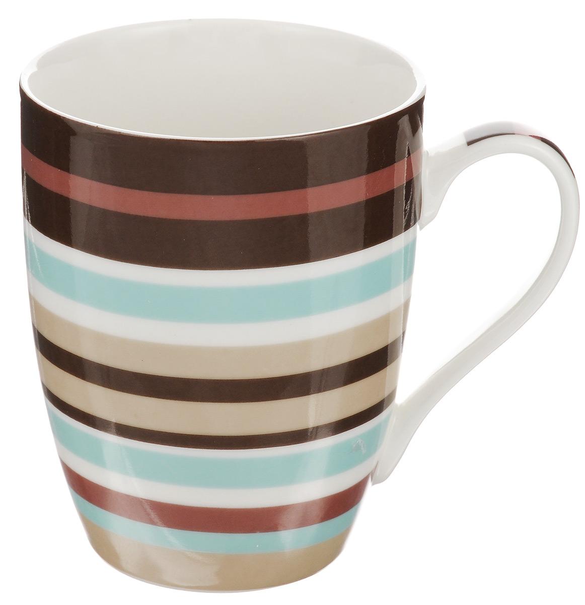 Кружка Walmer Sunset, цвет: белый, бежевый, коричневый, 350 млW09920035Кружка Walmer Sunset изготовлена из высококачественного фарфора. Такая кружка прекрасно оформит стол к чаепитию и станет его неизменным атрибутом. Не рекомендуется применять абразивные моющие средства. Диаметр (по верхнему краю): 8 см. Высота: 10,5 см.