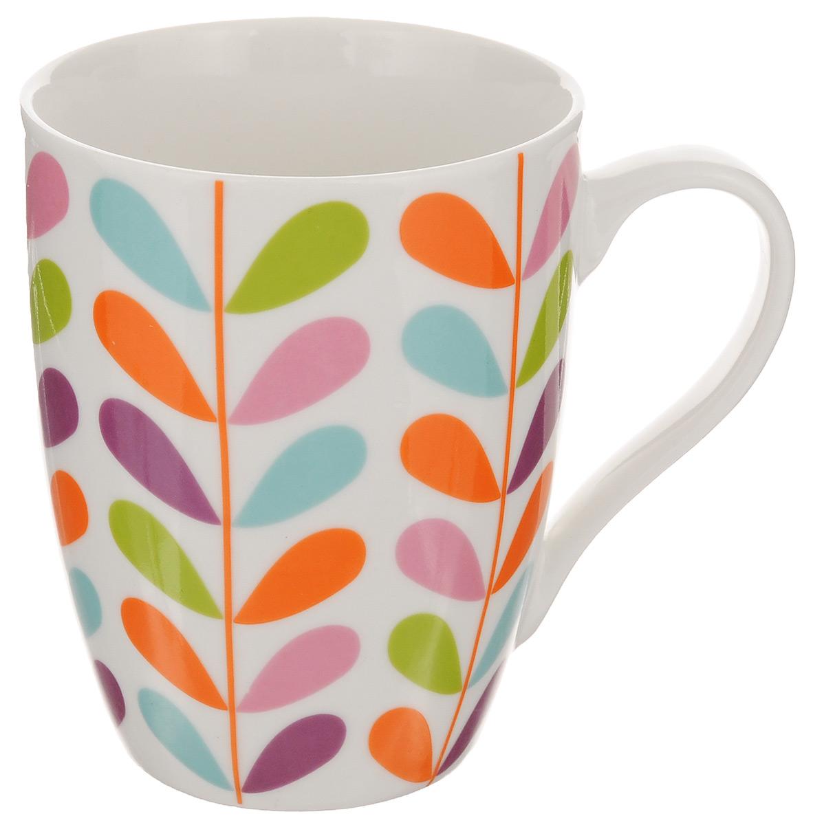 Кружка Walmer Barbery, цвет: белый, оранжевый, розовый, 350 млW09920235Кружка Walmer Barbery изготовлена из высококачественного фарфора. Изделие оформлено изысканным орнаментом. Такая кружка прекрасно оформит стол к чаепитию и станет его неизменным атрибутом. Не рекомендуется применять абразивные моющие средства. Диаметр (по верхнему краю): 8 см. Высота: 10,5 см.