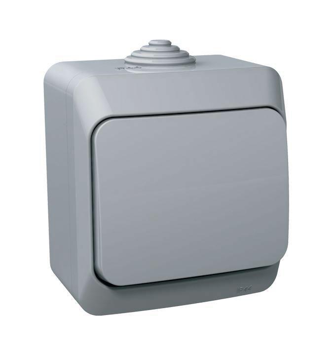 """Выключатель Schneider Electric """"Этюд"""", цвет: серый. BA10-041 BA10-041C"""