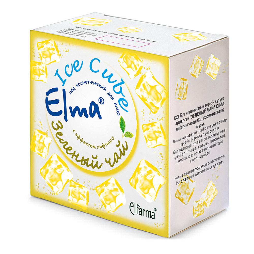 Elma Косметический лед для лица Зеленый ЧайУТ000001725С эффектом лифтинга. Специальная формула включает натуральные экстракты лимонника и зеленого чая. Не только освежает и тонизирует кожу, но и подтягивает ее, делая упругой и красивой. Не содердит спирта, красителей, подходит для ухода за кожей любого типа. В коробке два блистера, 12 штук по 10 мл.