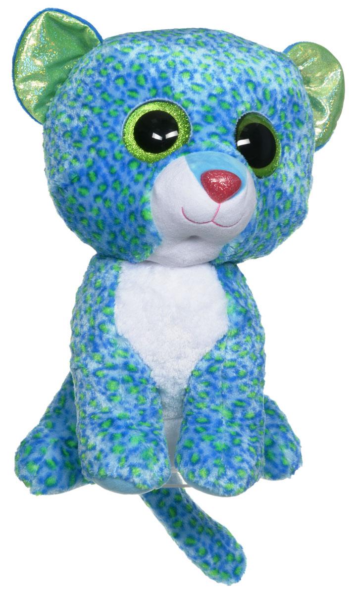 TY Мягкая игрушка Леопард Leona 41 см36817Мягкая игрушка TY Леопард Leona обязательно вызовет положительные эмоции и улыбку у каждого. Игрушка изготовлена из безопасных, приятных на ощупь материалов в виде милого леопарда. У игрушки блестящие зеленые ушки и глазки, мягкая пятнистая шубка. Гранулы из пластика, используемые при набивке игрушки, способствуют развитию мелкой моторики рук ребенка. Симпатичная игрушка будет радовать вашего ребенка, а также способствовать полноценному и гармоничному развитию его личности. Великолепное качество исполнения делают эту игрушку чудесным подарком к любому празднику, как для ребенка, так и для взрослого!