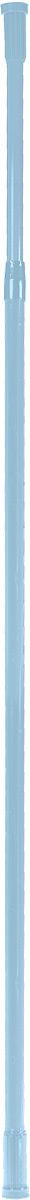 Карниз для ванной комнаты Vanstore, телескопический, цвет: голубой, длина 110-200 см671-11Прямой телескопический карниз Vanstore изготовлен из алюминия. Устанавливается в распор между двумя стенами в ванных комнатах и любых других помещениях. Для установки карниза не требуются какие-либо крепежные элементы и дополнительные инструменты. Он фиксируется благодаря стержневой пружине. При необходимости легко снимается и может использоваться многократно. Длина карниза: 110-200 см. Диаметр карниза: 22 мм.