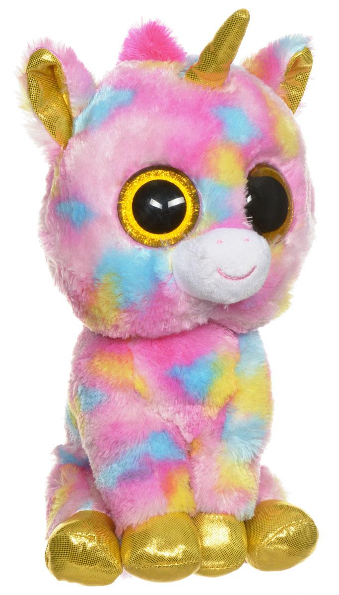 TY Мягкая игрушка Единорог Fantasia 25 см37041Мягкая игрушка TY Единорог Fantasia обязательно вызовет положительные эмоции и улыбку у каждого. Игрушка изготовлена из безопасных, приятных на ощупь материалов в виде милого единорога. У игрушки блестящие мягкие желтые копытца, ушки, рог, большие глазки и мягкая разноцветная шубка. Гранулы из пластика, используемые при набивке игрушки, способствуют развитию мелкой моторики рук ребенка. Симпатичная игрушка будет радовать вашего ребенка, а также способствовать полноценному и гармоничному развитию его личности. Великолепное качество исполнения делают эту игрушку чудесным подарком к любому празднику, как для ребенка, так и для взрослого!