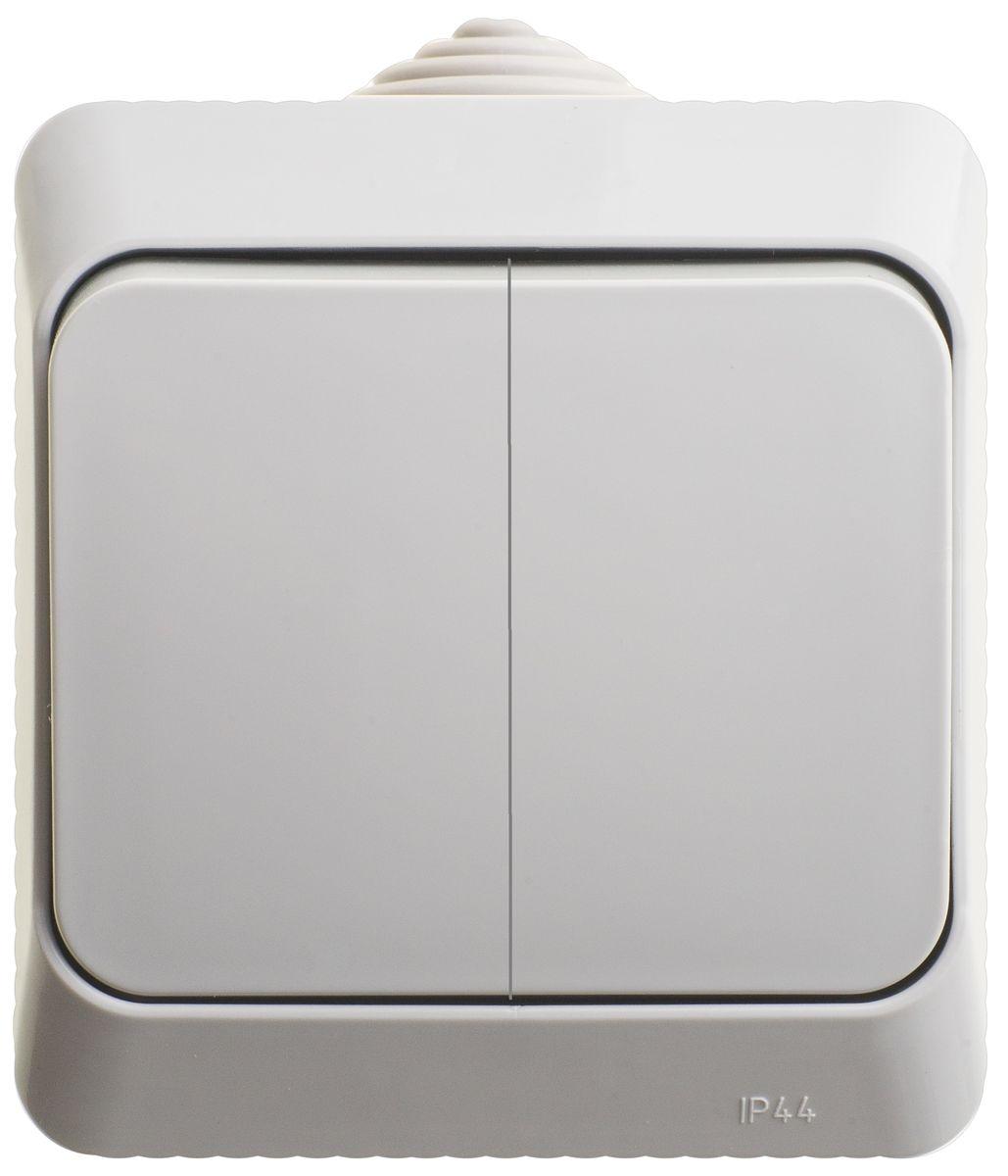 Выключатель Schneider Electric Этюд, двойной, цвет: серый. BA10-042BA10-042CВыключатель двухклавишный Schneider Electric Этюд используется для открытой установки. Удачное решение для дома и дачи. Изделие выполнено из композиции высококачественного пластика, специальное покрытие не позволяет пыли собираться на поверхности. Степень защиты от влаги IP44 позволяет устанавливать выключатель на улице или, например, в ванной. Функция выключателя: двухканальный. Тип контактов: 2 Н.О. Номинальный ток: 250 В. Диапазон мощности: 2300 Вт. Тип клемм: винтовые зажимы 2,5 мм2. Длина зачистки проводов: 11 мм. Степень защиты: IP44.