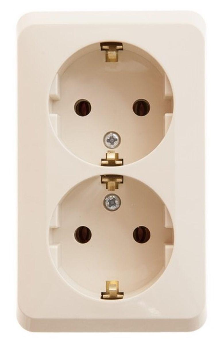 Розетка двойная Schneider Electric Этюд, с заземлением, цвет: кремовый. PA16-007KPA16-007KДвойная розетка Schneider Electric Этюд с заземляющим контактом, без шторок, открытой установки.