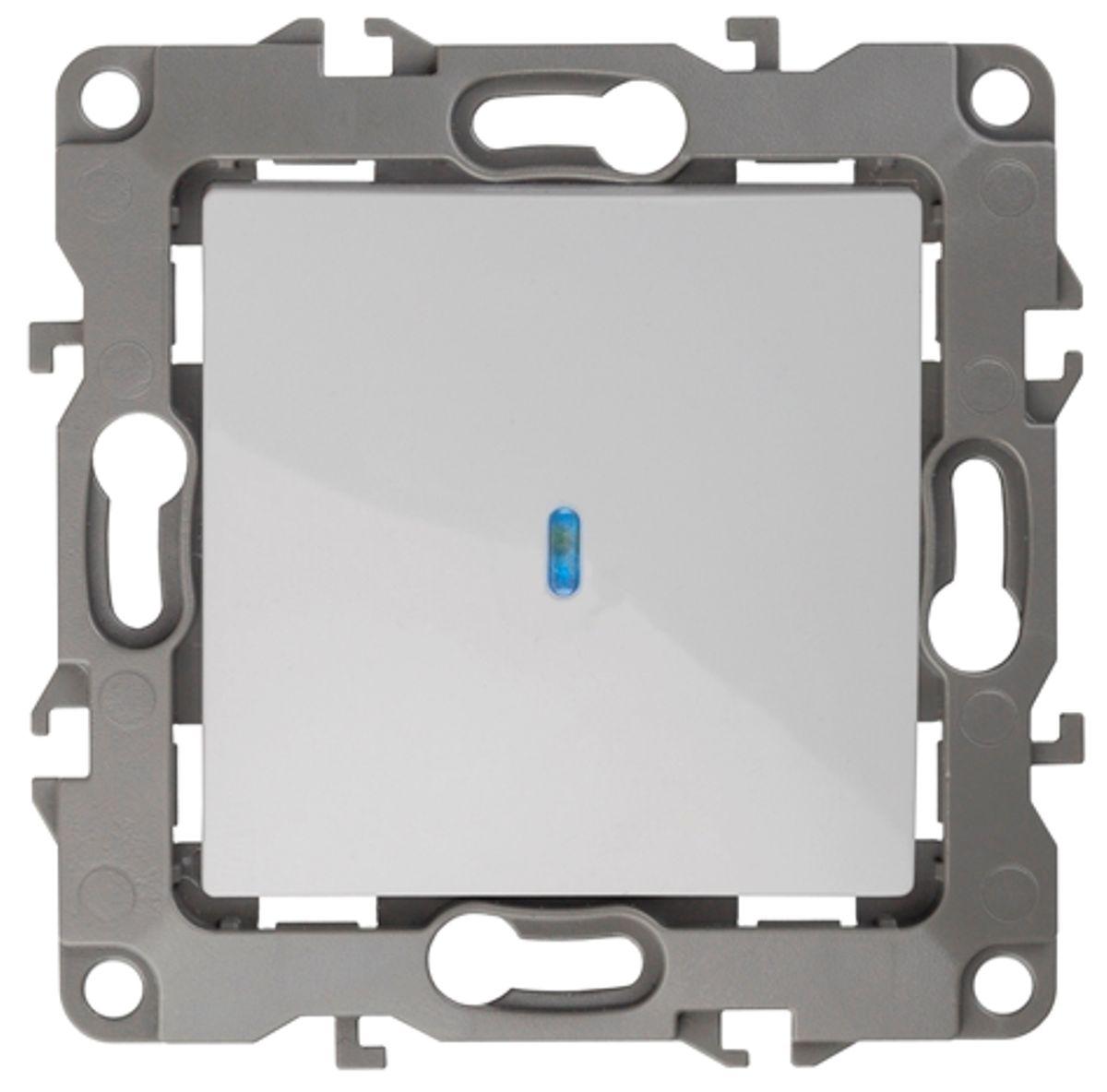 """Выключатель """"ЭРА"""", с подсветкой, цвет: белый, серый. 12-1102 12-1102-01"""