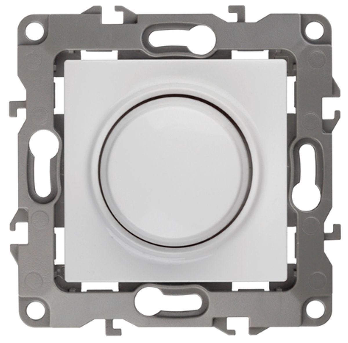"""Светорегулятор поворотно-нажимной """"ЭРА"""", цвет: белый, серый. 12-4101 12-4101-01"""