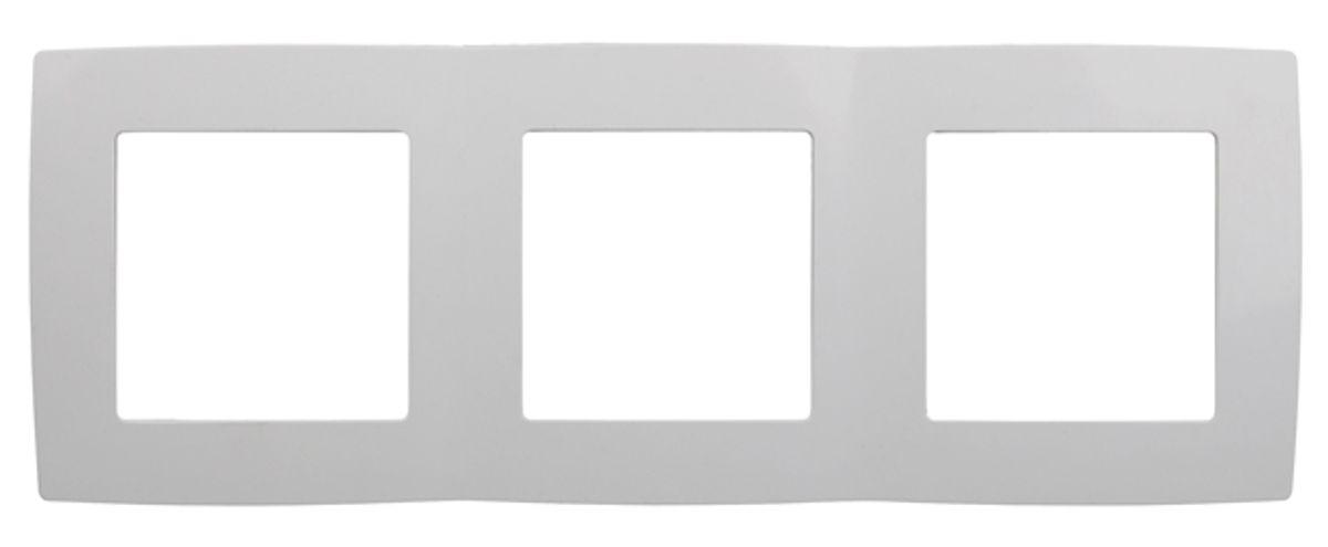 Рамка для встраиваемой розетки Эра, на 3 поста, горизонтальный и вертикальный монтаж, цвет: белый12-5003-01Рамка Эра выполнена из поликарбоната и используется для окантовки встраиваемой розетки. Возможен как горизонтальный, так и вертикальный монтаж изделия. Рамка отвечает основным требованиям безопасности и удобства монтажа. Современный дизайн и элегантная цветовая гамма подойдут к любому интерьеру.