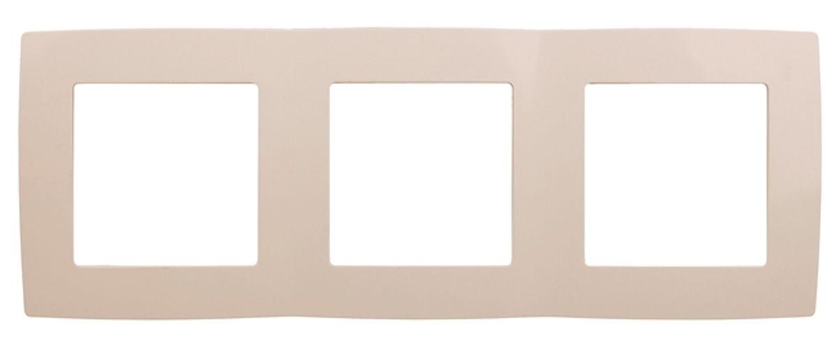 Рамка для встраиваемой розетки Эра, на 3 поста, горизонтальный и вертикальный монтаж, цвет: слоновая кость12-5003-02Рамка Эра выполнена из пластика и используется для окантовки встраиваемой розетки. Возможен как горизонтальный, так и вертикальный монтаж изделия. Рамка отвечает основным требованиям безопасности и удобства монтажа. Современный дизайн и элегантная цветовая гамма подойдут к любому интерьеру. Размер рамки: 22,5 х 8 х 1 см.