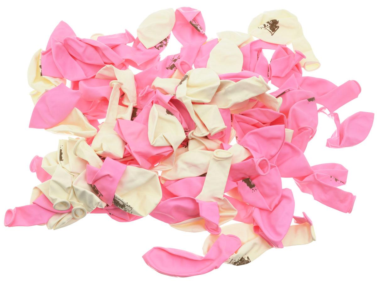 Olala Набор воздушных шаров Свадьба 100 шт26369_розовый, белыйНабор воздушных шариков Свадьба поможет вам необычно украсить помещение к празднику. Шарики с надписями С днем свадьбы! и пожеланиями молодым, создадут атмосферу приближающегося торжества. Каждый шарик кроме надписей, украшен ещё рисунком жениха и невесты. Шары изготовлены из безопасных материалов. В комплекте 100 шариков розового и белого цвета.