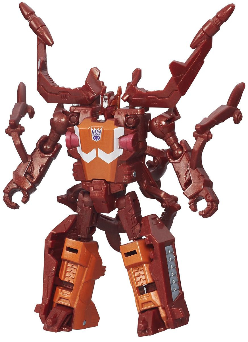 Transformers Трансформер Chop ShopB0971_B4667Трансформер Chop Shop привлечет внимание любого поклонника знаменитых Трансформеров! Фигурка выполнена из прочного пластика в виде робота-десептикона кирпичного цвета. Руки и ноги робота подвижны. В несколько простых шагов малыш сможет трансформировать фигурку робота в огромного жука. Ребенок с удовольствием будет играть с фигуркой, придумывая разные истории. Порадуйте его таким замечательным подарком!