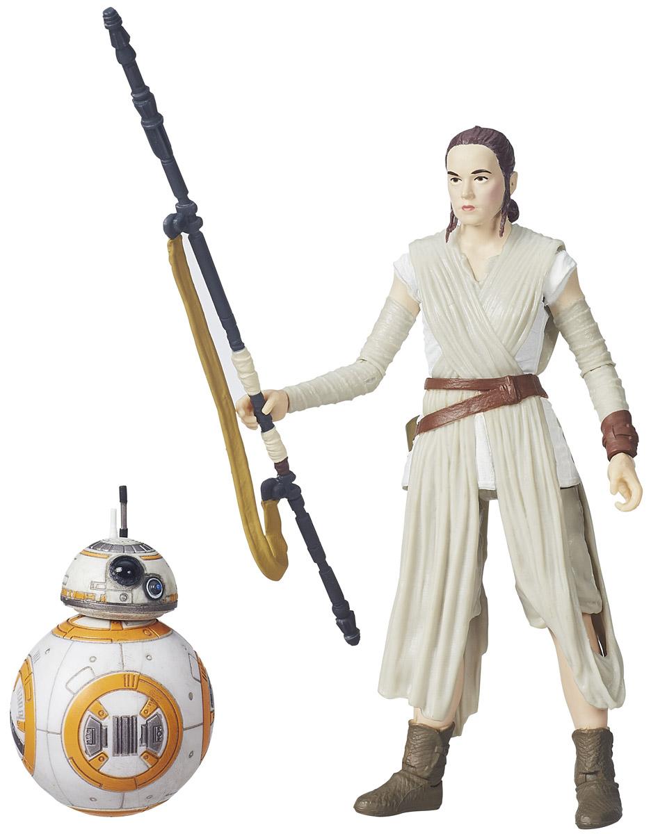 Star Wars Фигурка Rey & BB-8B3834_B3836Фигурки Star Wars Rey & BB-8 из пластика проработаны до мельчайших деталей и являются точной копией своих прототипов в уменьшенном размере. Рей - чувствительная к Силе женщина, человек, пилот и мусорщица, продававшая свои находки на пустынной планете Джакку в отдаленном районе Западного Предела через 30 лет после битвы при Эндоре. Мусорщица родилась от неизвестных родителей; в возрасте 5 лет ее оставили на Джакку - планете-свалке, которая была завалена обломками техники, оставшейся от битвы между Новой Республикой и Галактической Империей. Рей не только сумела выжить, но и стала талантливым механиком, пилотом и воином. BB-8 - дроид-астромеханик, который функционировал спустя тридцать лет после битвы при Эндоре. Дроид имеет куполообразную голову, похожую на верхнюю часть корпуса астромеханических дроидов серии R2, и шарообразное тело, которое позволяло ему передвигаться. BB-8 окрашен в основном в белый цвет, с небольшими вставками оранжевого и...