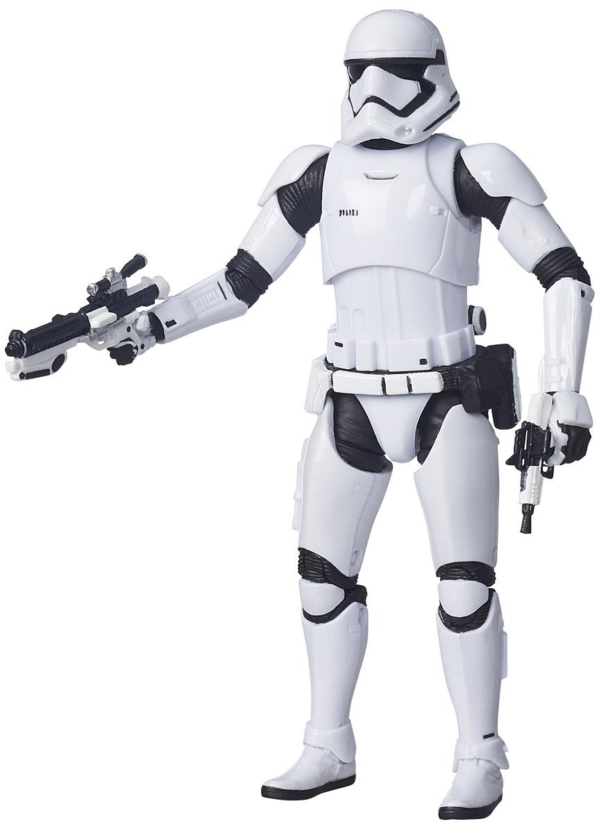 Star Wars Фигурка Stormtrooper B3838B3834_B3838Фигурка Star Wars Stormtrooper непременно привлечет внимание любого поклонника знаменитой саги Звездные войны. Фигурка выполнена из прочного высококачественного пластика в виде знаменитого героя Звездных войн, штурмовика Империи. У фигурки руки, ноги и голова двигаются. В комплект входит оружие персонажа для победы в самых горячих звездных битвах. Ваш ребенок часами будет играть с этой фигуркой, придумывая различные истории. Высокое качество исполнения порадует маленьких и взрослых коллекционеров, и такая фигурка займет достойное место в любой коллекции. Порадуйте своего ребенка таким замечательным подарком!