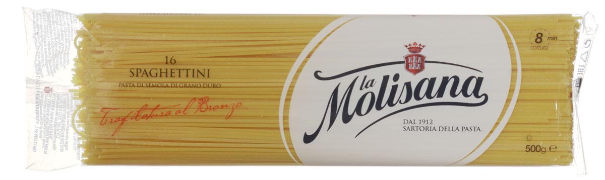 La Molisana Spaghettini тонкие спагетти макаронные изделия, 500 г