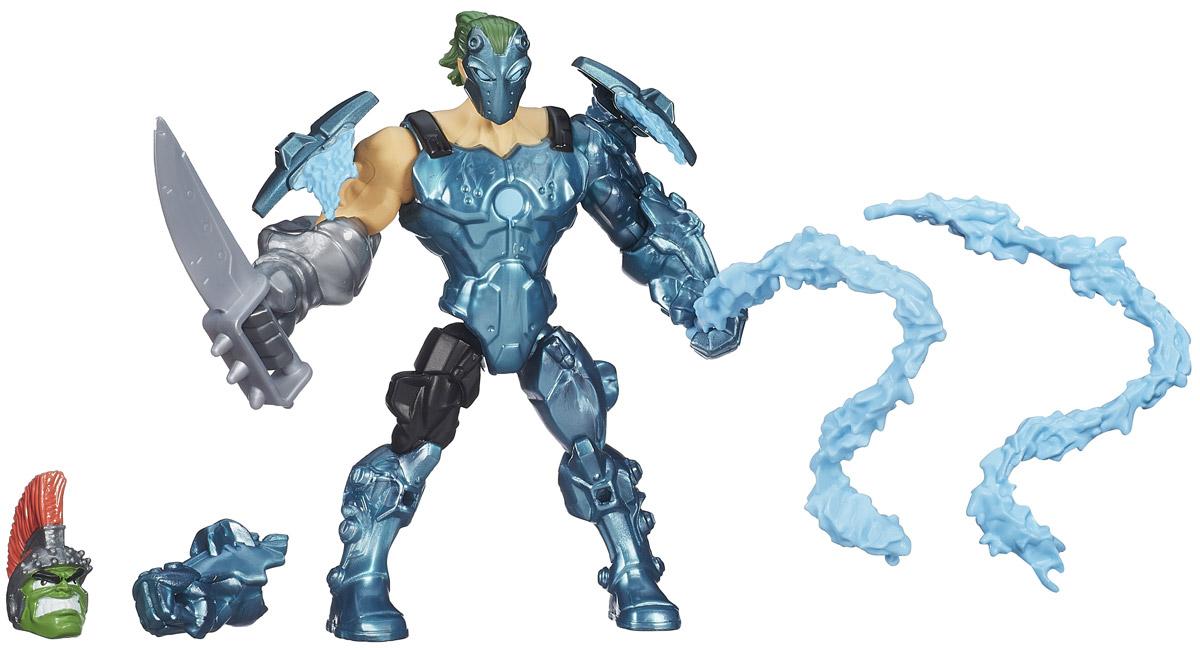 Hero Mashers Разборная фигурка MarvelS WhiplashA6833_B0696Разборная фигурка Hero Mashers MarvelS Whiplash обязательно понравится любому маленькому поклоннику мультфильмов о роботах-трансформерах! Фигурка выполнена из прочного пластика в виде робота Хлыста. Голова, руки и ноги фигурки подвижны, вращаются и сгибаются, а также отделяются от корпуса. В комплект входят все элементы персонажа в том числе и оружие. Все элементы обладают единым способом крепления, что позволяет создавать различные комбинации. Ребенок с удовольствием будет играть с фигуркой, придумывая разные истории. Порадуйте его таким замечательным подарком!