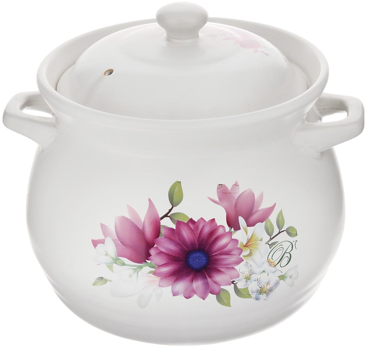 Супница Bohmann Цветы с крышкой, 5,3 л