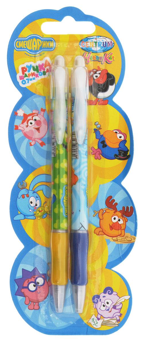 Смешарики Ручка шариковая 2 шт83967_салатовый/голубойШариковая ручка Смешарики в цветном пластиковом корпусе с героями одноименного мультфильма станет отличным подарком для ребенка. Автоматическая ручка с стержнем синего цвета дополнена прорезиненной муфтой для противодействия скольжению пальцев при письме, а также клипом для крепления ручки на бумаге или кармане. В наборе 2 ручки.