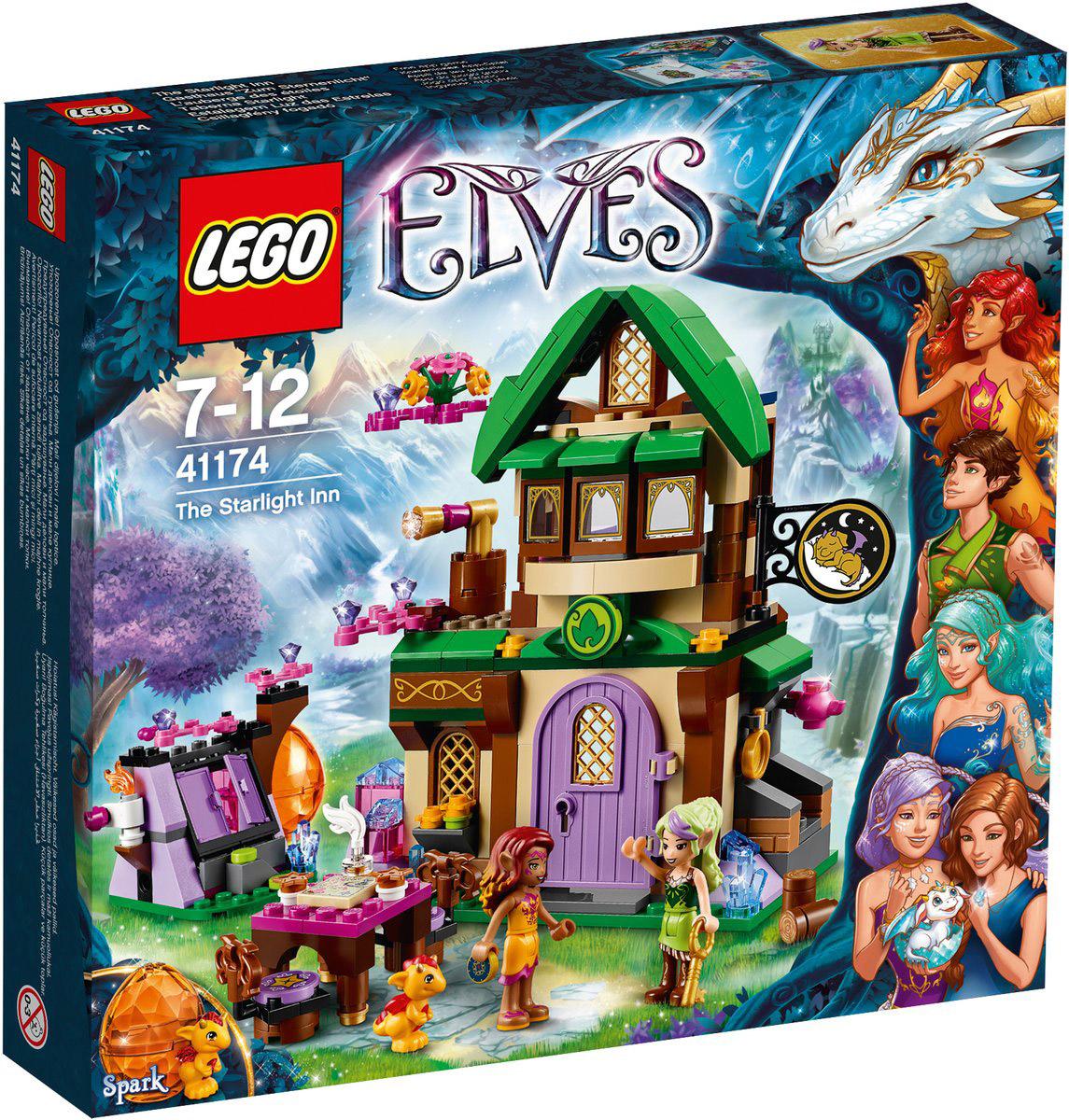 LEGO Elves Конструктор Отель Звездный свет 4117441174Отправляйтесь вместе с эльфом огня Азари по прозвищу Танец Огня и Спарком, детенышем огненного дракона, в Отель Звездный свет! Познакомьтесь с Сирой Медной ветвью, небесным капитаном, которая управляет отелем, и осмотритесь внутри. Прежде чем выпить чаю и узнать больше об отеле и Небесном капитане, удобно устройте яйцо Спарка в подвале. Спрячьте Спарка в его яйцо, а затем хорошенько выспитесь, чтобы подготовиться к очередным приключениям в Эльфендейле! Набор включает в себя 343 разноцветных пластиковых элемента. Конструктор - это один из самых увлекательных и веселых способов времяпрепровождения. Ребенок сможет часами играть с конструктором, придумывая различные ситуации и истории!