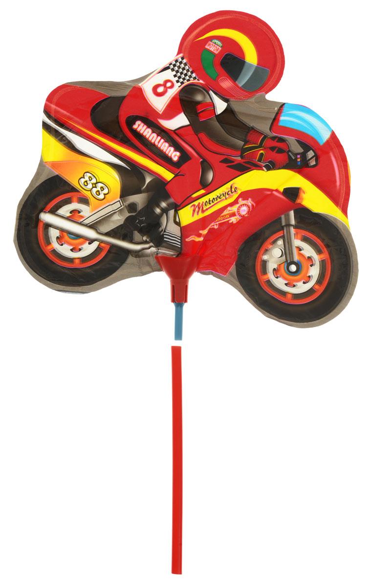 Action! Шар фольгированный на палочке МотоциклAPI0221Фольгированный шар Мотоцикл станет замечательным украшением праздника и веселой игрушкой для малыша. Яркий шар в форме крутого мотоцикла с гонщиком сможет стать прекрасным дополнением к подарку на день рождения! С помощью этого аксессуара любая вечеринка останется незабываемой! Шар дополнен пластиковой палочкой для удобства использования. Изделие поставляется ненадутым.