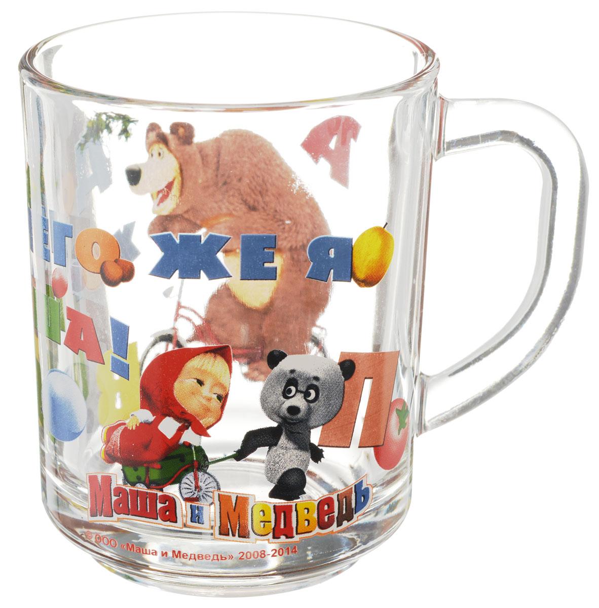 Маша и Медведь Кружка детская Школьная 250 мл5502902Детская кружка Маша и Медведь Школьная с любимыми героями станет отличным подарком для вашего ребенка. Она выполнена из стекла и оформлена изображением героев мультсериала Маша и Медведь. Кружка дополнена удобной ручкой. Такой подарок станет не только приятным, но и практичным сувениром: кружка будет незаменимым атрибутом чаепития, а оригинальное оформление кружки добавит ярких эмоций и хорошего настроения. Можно мыть в посудомоечной машине.