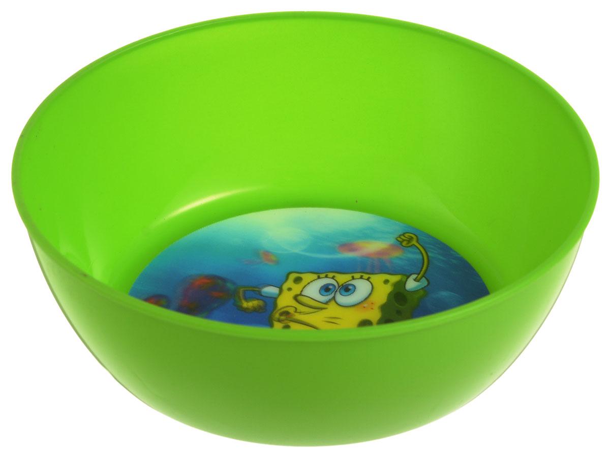 Губка Боб Миска детская 3D цвет зеленый диаметр 15 см