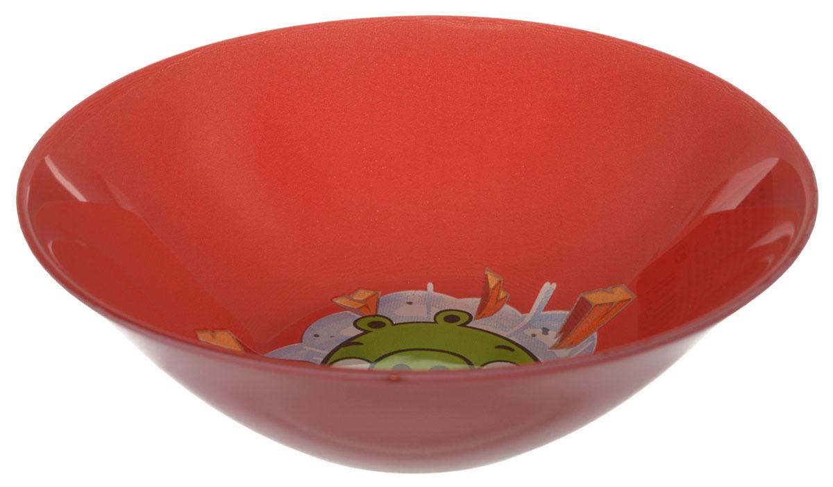 Angry Birds Салатник детский цвет красный диаметр 14 см1066268Яркий салатник Angry Birds идеально подойдет для кормления малыша и самостоятельного приема им пищи. Салатник выполнен из стекла и оформлен высококачественным изображением героя знаменитой игры Angry Birds. Такой подарок станет не только приятным, но и практичным сувениром, добавит ярких эмоций вашему ребенку! Можно использовать в посудомоечной машине.