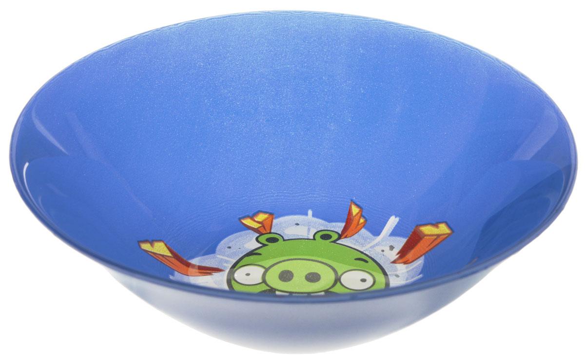Angry Birds Салатник детский цвет синий диаметр 14 см1066272Яркий салатник Angry Birds идеально подойдет для кормления малыша и самостоятельного приема им пищи. Салатник выполнен из стекла и оформлен высококачественным изображением героя знаменитой игры Angry Birds. Такой подарок станет не только приятным, но и практичным сувениром, добавит ярких эмоций вашему ребенку! Можно использовать в посудомоечной машине.