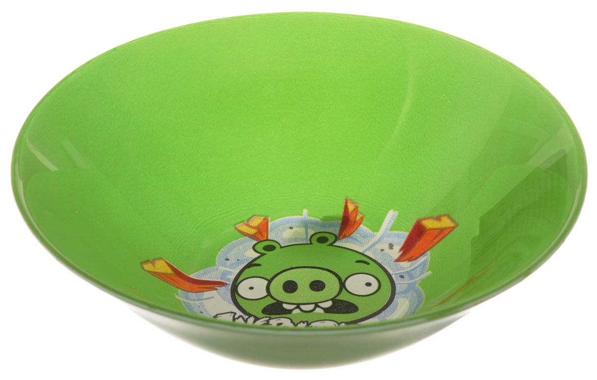 Angry Birds Салатник детский цвет зеленый диаметр 14 см1066270Яркий салатник Angry Birds идеально подойдет для кормления малыша и самостоятельного приема им пищи. Салатник выполнен из стекла и оформлен высококачественным изображением героя знаменитой игры Angry Birds. Такой подарок станет не только приятным, но и практичным сувениром, добавит ярких эмоций вашему ребенку! Можно использовать в посудомоечной машине.