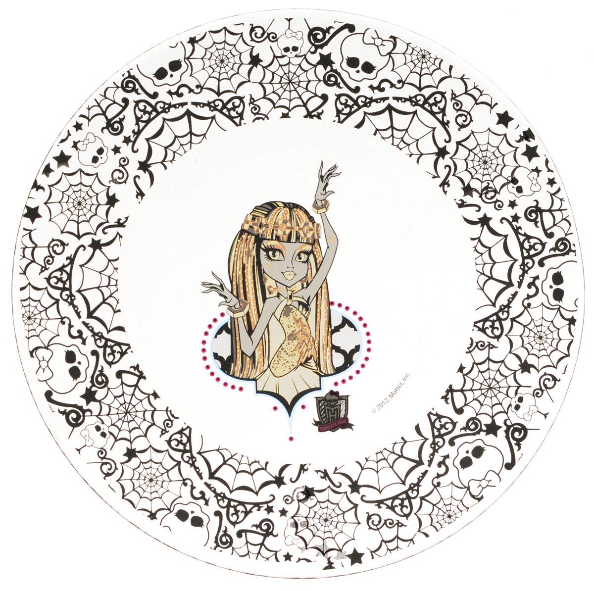 Monster High Тарелка детская диаметр 19,5 см543977Яркая тарелка Monster High идеально подойдет для кормления малыша и самостоятельного приема им пищи. Тарелка выполнена из стекла и оформлена высококачественным изображением героини мультфильма Monster High. Такой подарок станет не только приятным, но и практичным сувениром, добавит ярких эмоций вашему ребенку! Не подходит для использования в посудомоечной машине.