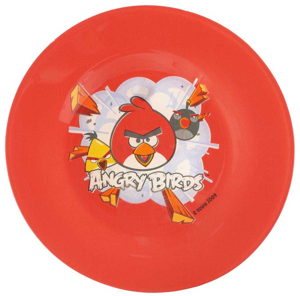 Angry Birds Тарелка детская цвет красный диаметр 19,5 см1066267Яркая тарелка Angry Birds идеально подойдет для кормления малыша и самостоятельного приема им пищи. Тарелка выполнена из закаленного стекла и оформлена высококачественным изображением героев игры Angry Birds. Такой подарок станет не только приятным, но и практичным сувениром, добавит ярких эмоций вашему ребенку! Можно использовать в посудомоечной машине.