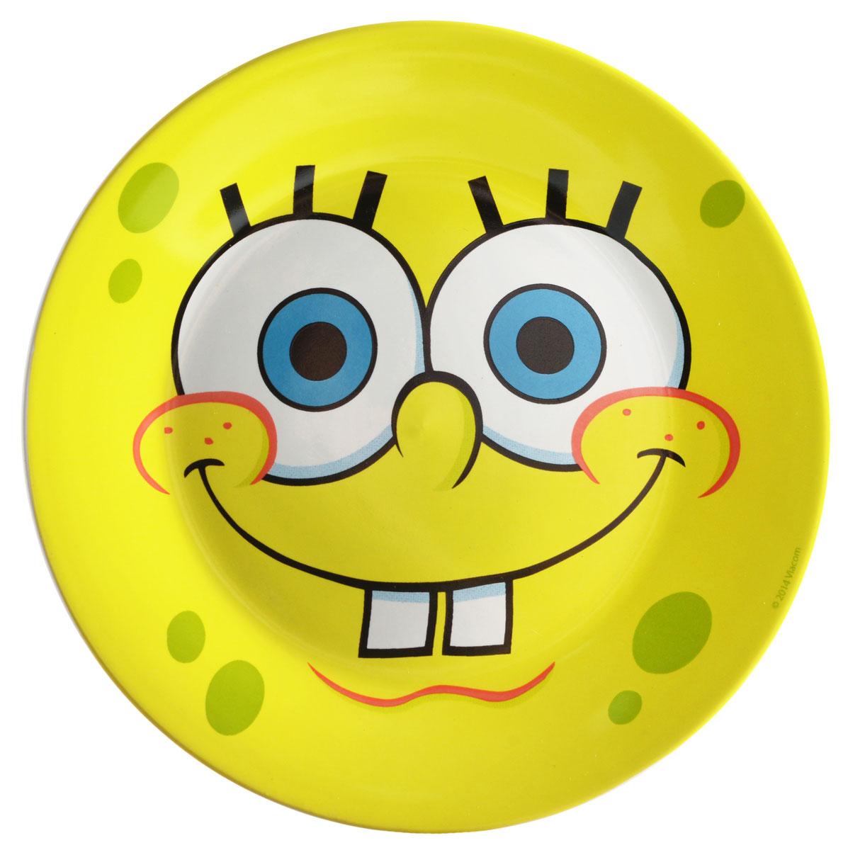 Губка Боб Тарелка детская Солнечный диаметр 19 смSBP190-1Яркая тарелка Губка Боб Солнечный идеально подойдет для кормления малыша и самостоятельного приема им пищи. Тарелка выполнена из керамики и оформлена высококачественным изображением героя мультфильма Губка Боб. Такой подарок станет не только приятным, но и практичным сувениром, добавит ярких эмоций вашему ребенку! Можно использовать в СВЧ-печи и посудомоечной машине.