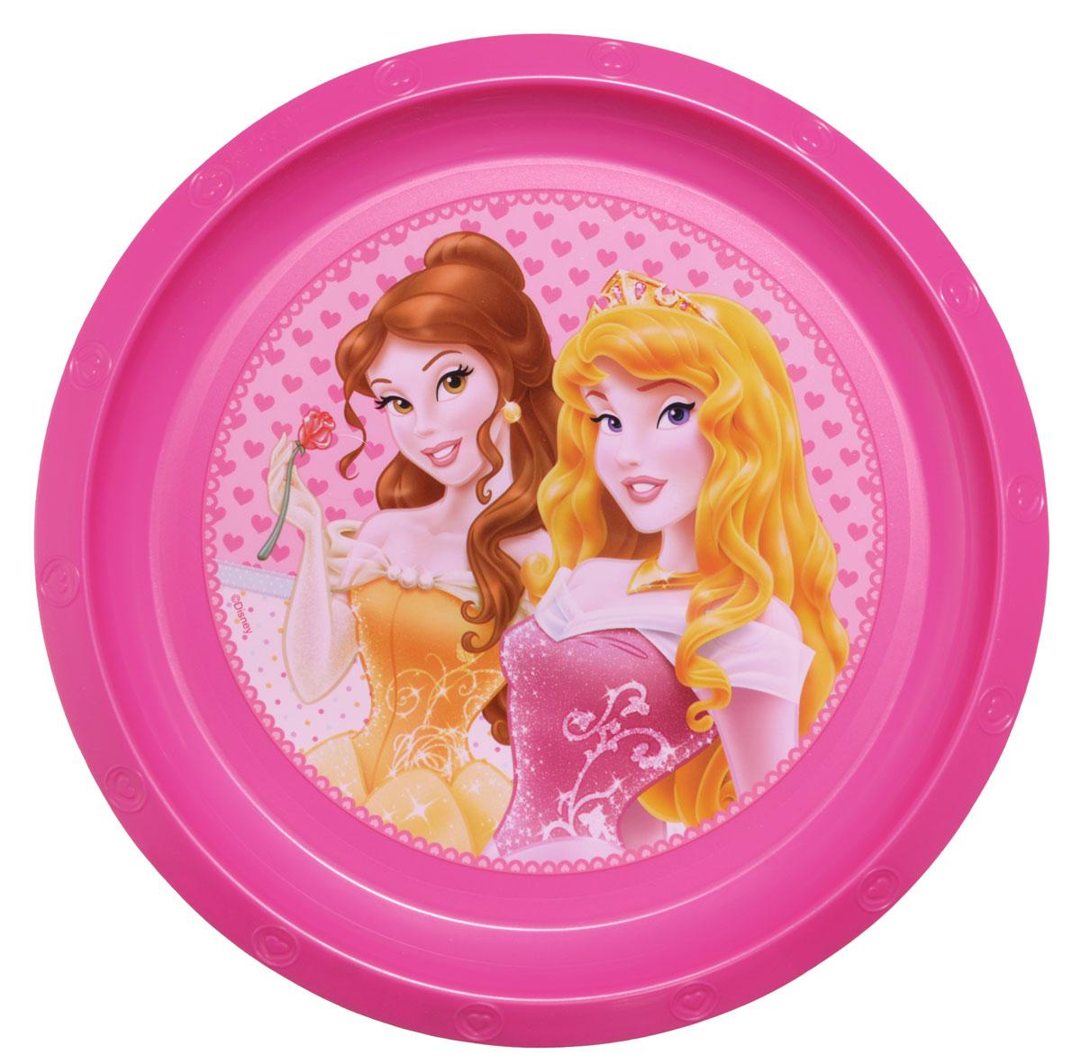 Disney Тарелка детская Принцессы диаметр 21,5 см52212Яркая тарелка Disney Принцессы идеально подойдет для кормления малыша и самостоятельного приема им пищи. Тарелка выполнена из безопасного полипропилена, дно оформлено высококачественным изображением принцесс из диснеевских сказок. Такой подарок станет не только приятным, но и практичным сувениром, добавит ярких эмоций вашему ребенку! Не предназначено для использования в СВЧ-печи и посудомоечной машине.