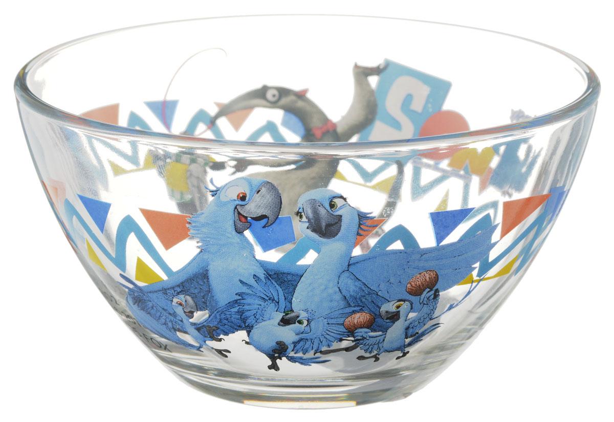 Рио Салатник детский диаметр 12,5 см11135201Яркий салатник Рио идеально подойдет для кормления малыша и самостоятельного приема им пищи. Салатник выполнен из стекла и оформлен высококачественным изображением героев мультфильма Рио-2. Такой подарок станет не только приятным, но и практичным сувениром, добавит ярких эмоций вашему ребенку! Не предназначено для использования в посудомоечной машине.