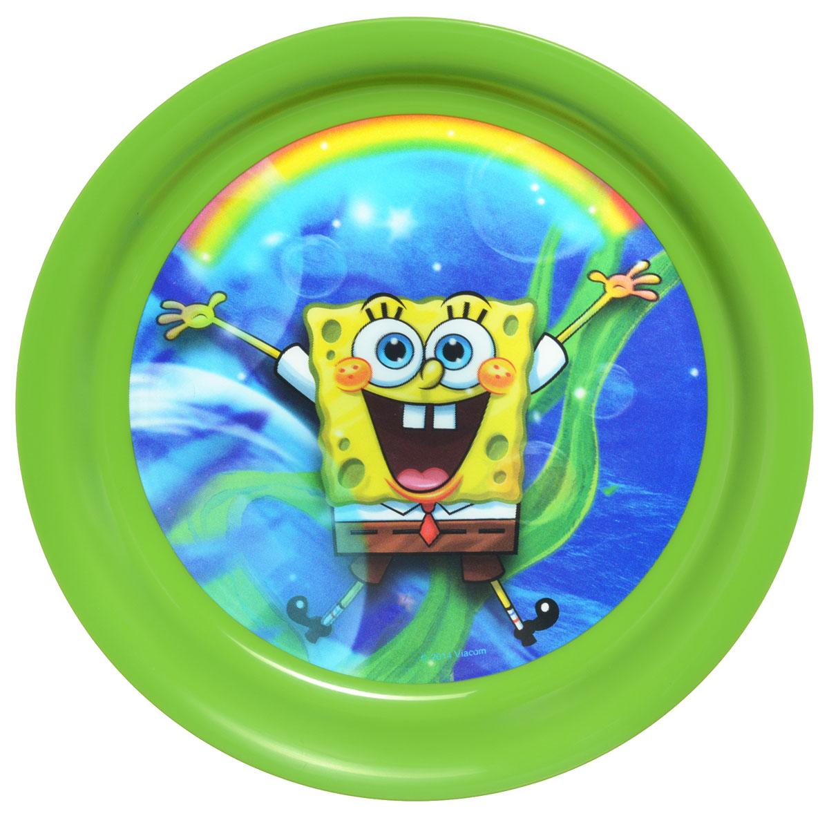 Губка Боб Тарелка детская 3D цвет зеленый диаметр 19 смP190-01GЯркая тарелка Губка Боб с 3D рисунком идеально подойдет для кормления малыша и самостоятельного приема им пищи. Тарелка выполнена из безопасного полипропилена зеленого цвета, дно оформлено объемным изображением улыбающегося Губки Боба из одноименного мультсериала. Такой подарок станет не только приятным, но и практичным сувениром, добавит ярких эмоций вашему ребенку! Не предназначено для использования в СВЧ-печи и посудомоечной машине.