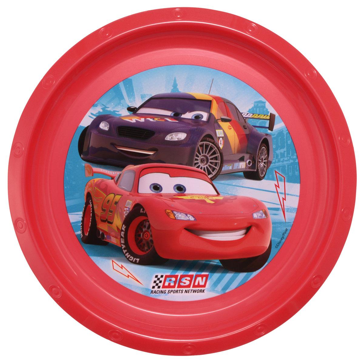 Disney Тарелка детская Тачки диаметр 21,5 см52312Яркая тарелка Disney Тачки идеально подойдет для кормления малыша и самостоятельного приема им пищи. Тарелка выполнена из безопасного полипропилена, дно оформлено высококачественным изображением героев мультфильма Тачки. Такой подарок станет не только приятным, но и практичным сувениром, добавит ярких эмоций вашему ребенку! Не предназначено для использования в СВЧ-печи и посудомоечной машине.