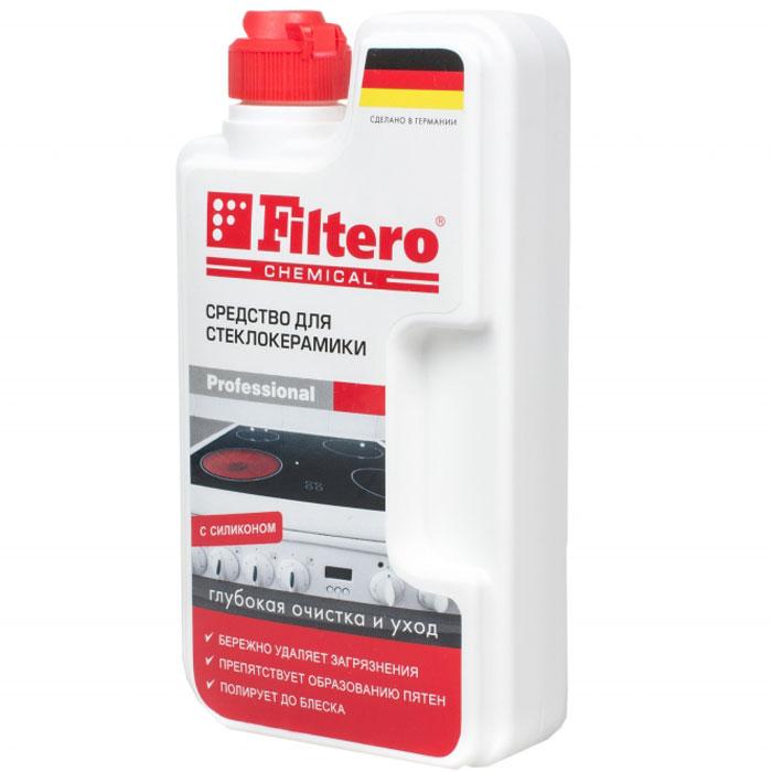 Filtero средство для чистки стеклокерамики, 250 мл202Средство для стеклокерамики Filtero обеспечивает глубокую очистку и уход. Оно предназначено для комплексного ухода за стеклокерамическими плитами: эффективное очищение, защита и блеск. Попадая на поверхность, активные вещества моментально проникают в загрязнения, что позволяет мягко и без усилий удалить их, не оставляя царапин. Процесс очистки стеклокерамической панели всегда был сложным и трудоемким. Но благодаря средству для очистки стеклокерамики Filtero все сложности в прошлом. Попадая на поверхность, активные вещества моментально проникают в загрязнения, что позволяет мягко и без усилий удалить их, не оставляя царапин. Силиконовое масло оставляет тонкую защитную пленку, препятствуя образованию пятен. Специальный компонент позволяет легко отполировать поверхность. Результат: безупречная чистота, блеск и продолжительная защита стеклокерамической плиты.