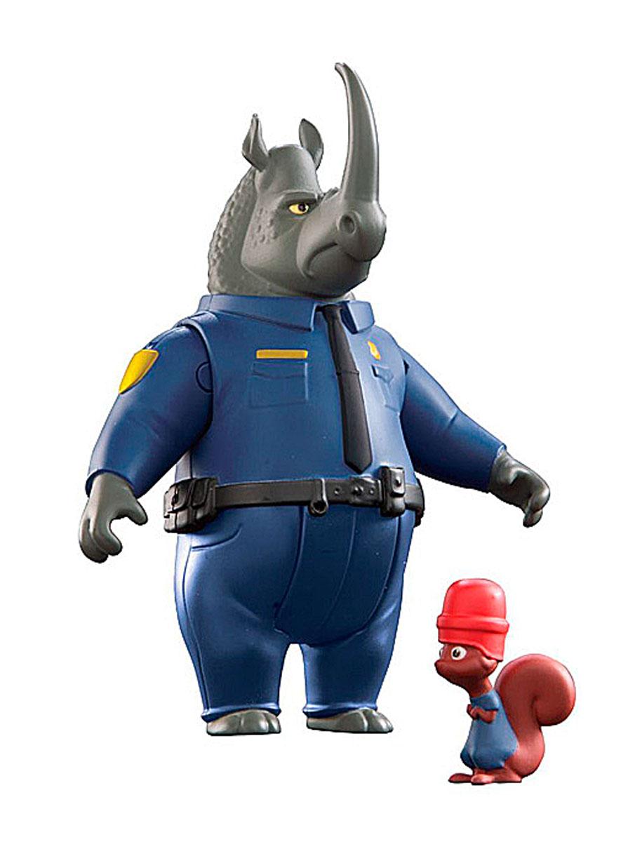 Zootropolis Набор фигурок Макрог и БелкаL70901_L70005Набор фигурок Zootropolis. Макрог и белка станет воплощением мечты всех поклонников этого мультфильма. Зверополис - современный город, населенный самыми разными животными, от огромных слонов до крошечных мышек. В набор входят две фигурки героев мультика: офицера полиции носорога Макрога и его миниатюрного коллеги - белки безопасности. Сила и размеры Макрога - большое преимущество в работе полицейского. Однако офицер не отличается ловкостью и маневренностью и зачастую просто не замечает более миниатюрных жителей Зоотрополиса. Именно поэтому, Макрога везде и всюду сопровождает его коллега и неизменный спутник - Белка безопасности, предупреждающий обывателей о приближении офицера. И, конечно, защитный шлем на голове белки - это не дань стилю, а жизненная необходимость. Фигурка носорога обладает несколькими точками артикуляции: передние и задние лапы, голова. Фигурки выполнены из экологически безопасных материалов, поэтому подойдут даже для самых маленьких любителей...