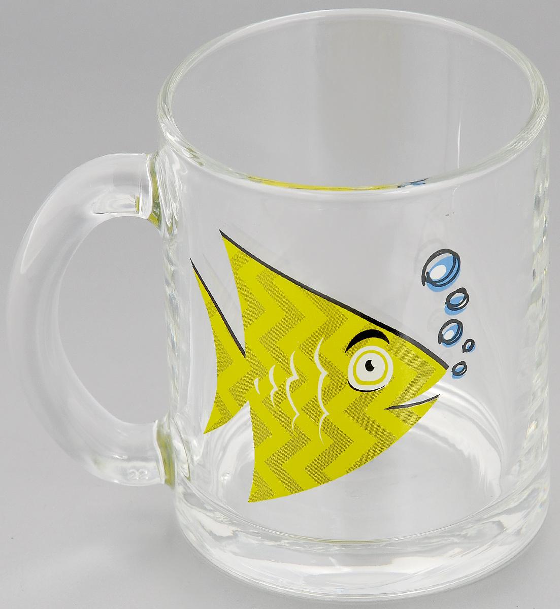 Кружка OSZ Рыбки, цвет: прозрачный, желтый, 320 мл04С1208 ДЗ РЫБКИ_желтая рыбкаКружка OSZ Рыбки изготовлена из стекла и украшена красочным рисунком. Изделие оснащено удобной ручкой и сочетает в себе оригинальный дизайн и функциональность. Кружка OSZ Рыбки не только украсит ваш кухонный стол, но подчеркнет прекрасный вкус хозяйки. Диаметр кружки (по верхнему краю): 7,7 см. Диаметр основания: 8 см. Высота кружки: 9,7 см. Объем кружки: 320 мл.