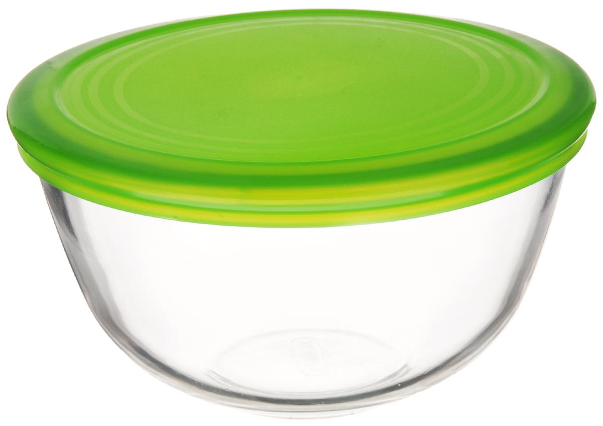 Миска Pyrex Cook & Store, с крышкой, 1 л179P000Миска Pyrex Cook & Store изготовлена из высококачественного прозрачного стекла и снабжена пластиковой крышкой, которая плотно и герметично закрывается, дольше сохраняя продукты свежими. Идеально подходит для сервировки салатов и закусок, а также для хранения и переноски пищевых продуктов. Можно использовать в микроволновой печи и посудомоечной машине, а также для хранения пищи в холодильнике. Диаметр (по верхнему краю): 17 см.