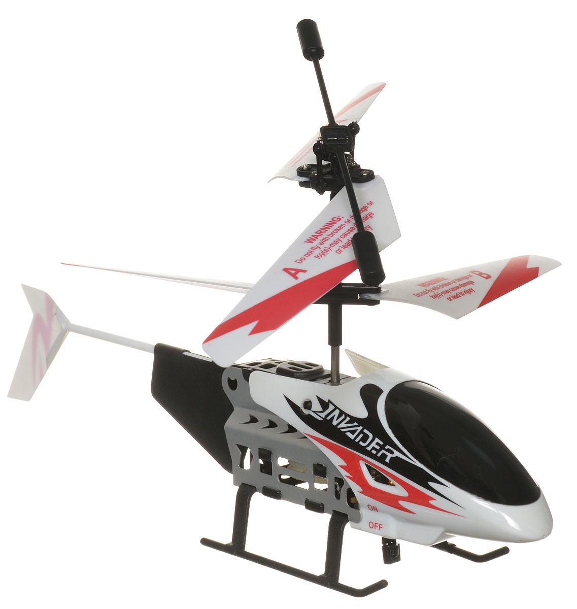 Bluesea Вертолет на инфракрасном управлении L608 цвет белый красный черныйL608_белый,красный,черныйВертолет на инфракрасном управлении Bluesea L608 со световыми эффектами привлечет внимание не только ребенка, но и взрослого и станет отличным подарком любителю воздушной техники. Вертолет оснащен встроенным гироскопом, который поможет скорректировать и устранить нежелательные вращения корпуса вертолета, благодаря чему сохранится высокая устойчивость полета. Каркас вертолета выполнен из пластика с использованием металла. Вертолет имеет двухканальное дистанционное управление. Модель идеально подходит для игры внутри помещения. Зарядка аккумулятора осуществляется как от пульта управления, так и через USB с помощью специального кабеля (в комплекте). Имеются световые эффекты. В комплект входят вертолет, пульт управления, две запасные лопасти, отвертка, кабель зарядки USB. Каждый полет вертолета будет максимально комфортным и принесет вам яркие впечатления! Вертолет работает от встроенного аккумулятора. Для работы пульта управления необходимы 6 батареек...