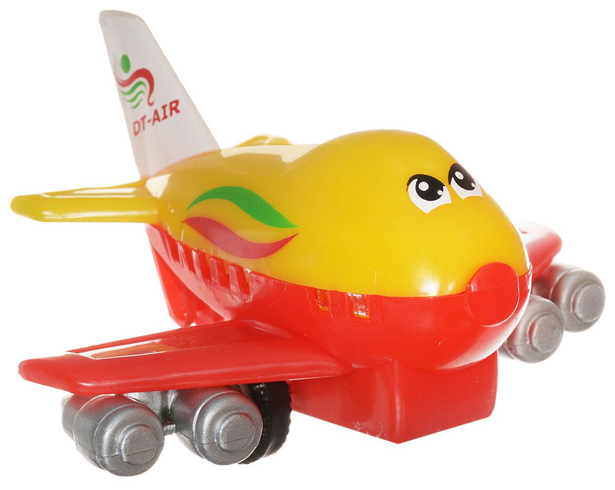 Dickie Toys Веселый самолет инерционный цвет желтый красный3345475_желт/краснИнерционная игрушка Dickie Toys Веселый самолет порадует любого маленького непоседу! Самолетик оснащен инерционным механизмом, что придает игре особую динамику. Самолет нужно откатить назад, резко отпустить - и он покатится вперед. Игрушка выполнена в ярких красно-желтых цветах. Игрушка от немецкой компании Dickie Toys изготовлена из высококачественных прочных материалов и будет радовать вашего малыша максимально долгий срок.