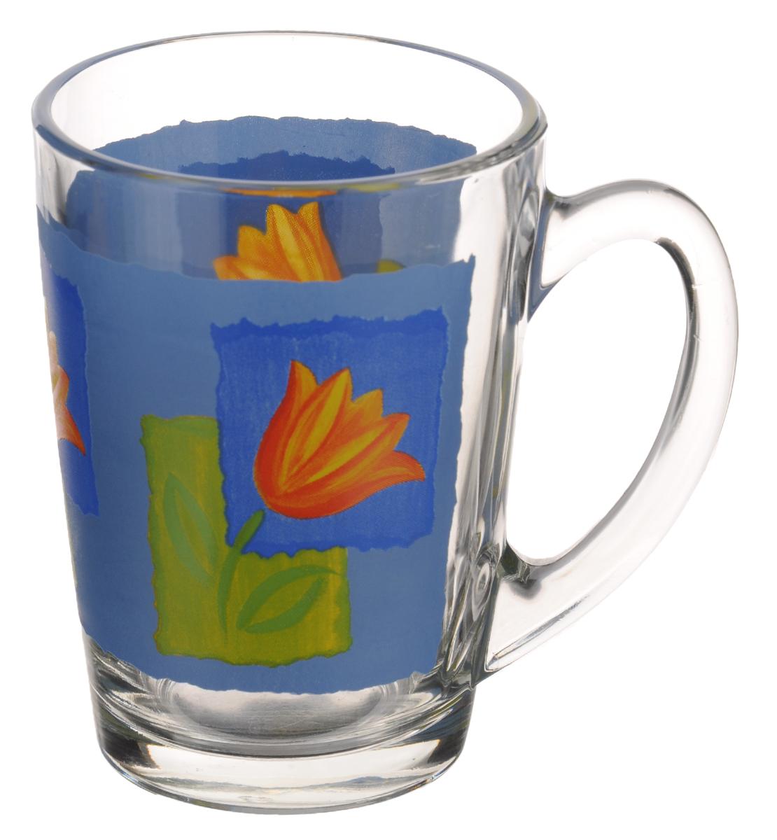 Кружка Luminarc Melys Azur, 320 млJ9124Кружка Luminarc Melys Azur изготовлена из упрочненного стекла. Такая кружка прекрасно подойдет для горячих и холодных напитков. Она дополнит коллекцию вашей кухонной посуды и будет служить долгие годы. Диаметр кружки (по верхнему краю): 8 см.