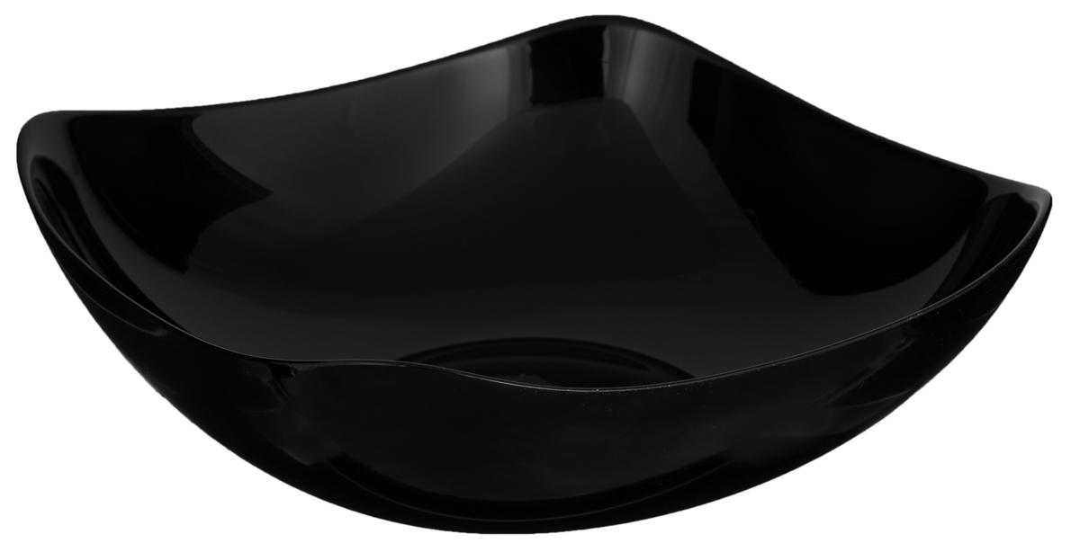 Салатник Luminarc Yalta Black, 25 х 25 смH3817Элегантный салатник Luminarc Yalta Black, изготовленный из ударопрочного стекла, прекрасно подойдет для подачи различных блюд: закусок, салатов или фруктов. Такой салатник украсит ваш праздничный или обеденный стол, а оригинальное исполнение понравится любой хозяйке. Размер салатника (по верхнему краю): 25 х 25 см. Высота салатника: 8,7 см.