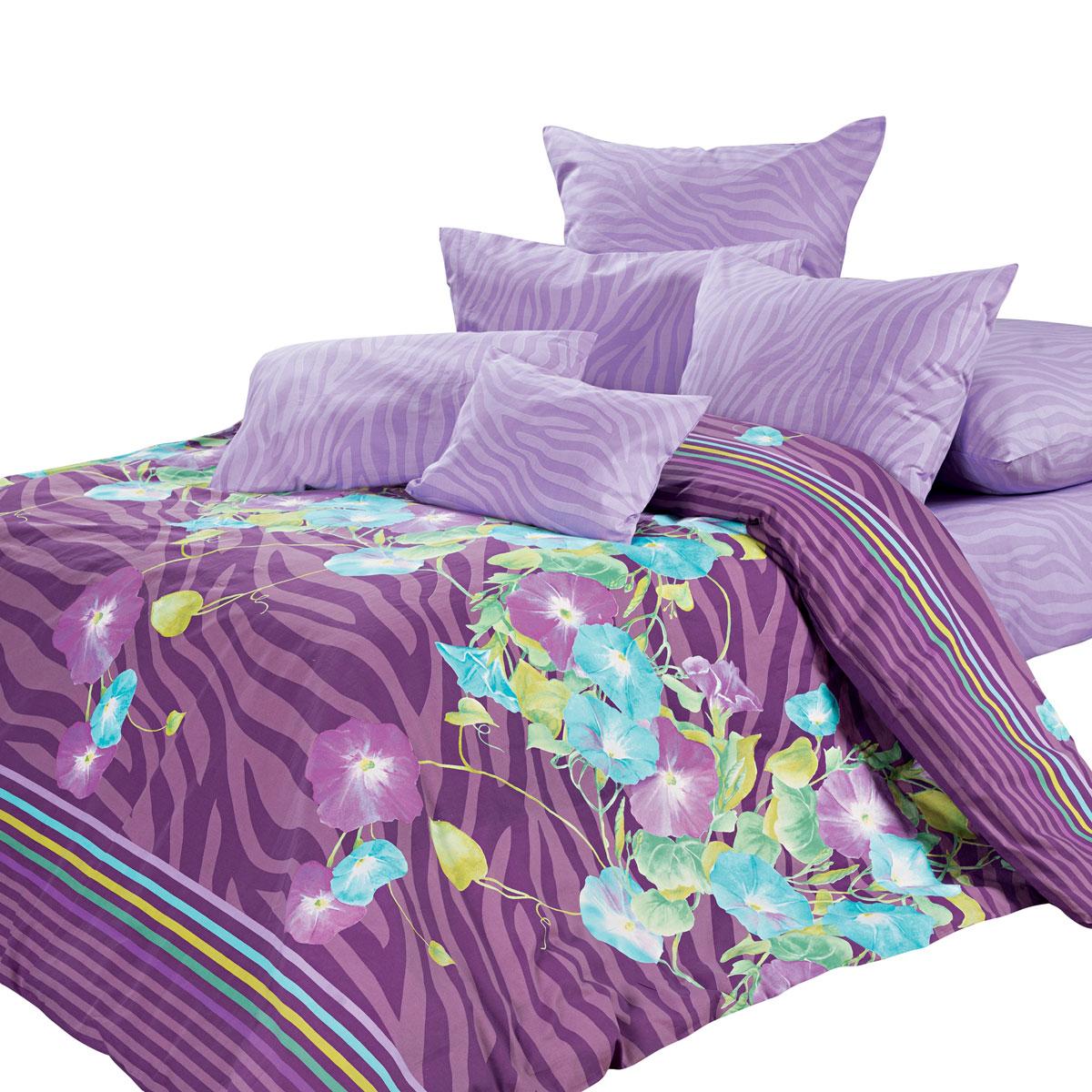 Комплект белья Унисон Летиция, евро, наволочки 70 х 70, цвет: фиолетовый. 276578276578Постельное белье торговой марки «Унисон Биоматин» - это домашний текстиль премиум класса с эксклюзивными дизайнами в разнообразных стилистических решениях. Комплекты данной серии выполнены из ткани «биоматин» - это 100% хлопок высочайшего качества, мягкий, тонкий и легкий, но при этом прочный, долговечный и очень практичный, с повышенным показателем износостойкости, обладающий грязе- и пылеотталкивающими свойствами, долго сохраняющий чистоту и свежесть постельного белья, гипоаллергенный.